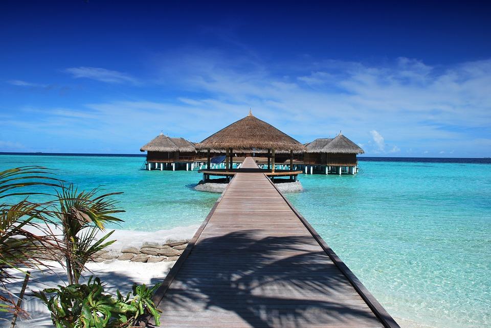 Ocean Holiday Maldives Sun Sand Ile Nature Beach