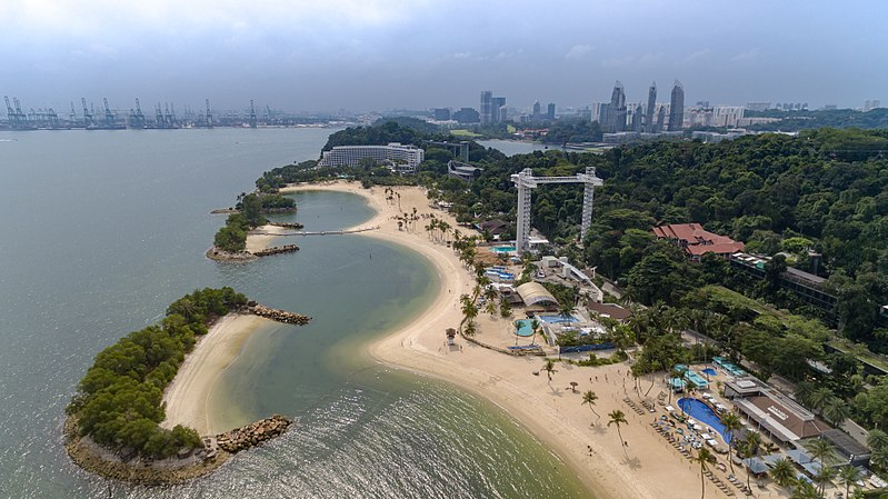 Sentosa Island Singapore | Image Credit - dronepicr, CC BY-SA 2.0 via Wikipedia Commons