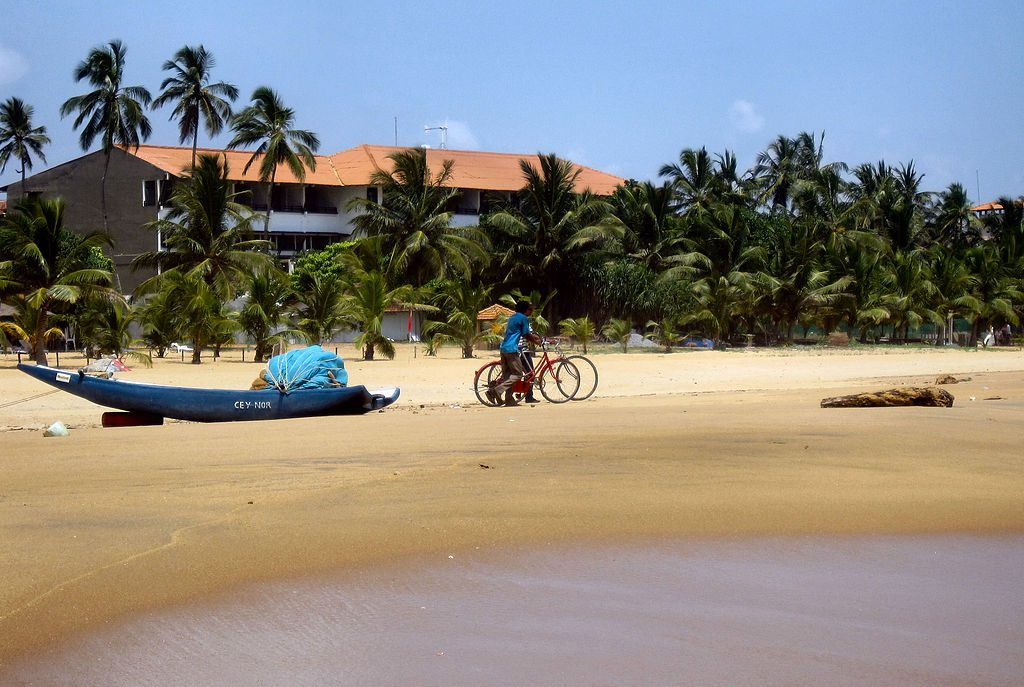 Cycling in Negombo Beach